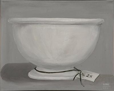 No. 25 - Beslagkom Petrus Regout - Acryl op doek, met witte lijst - 40 x 50 cm - Kittie Markus