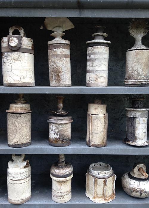 Texelse zeezout potten – Raku gestookt