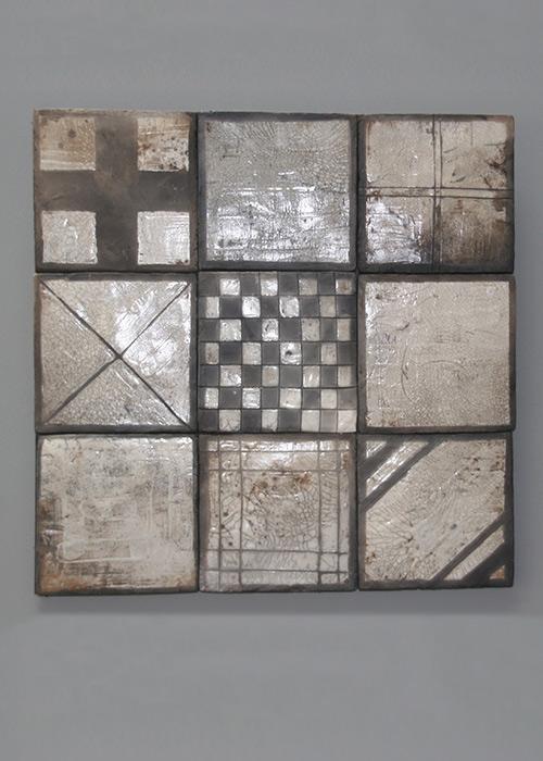 Wandpanelen met tegels - Raku gestookt